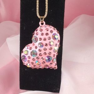 Jewelry - PINK METAL ADORNED WITH PINK RHINESTONES